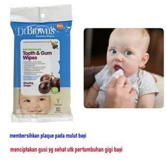 Drbrowns Brown Baby Wipes Tooth And Gum Tissue Basah Bayi jual beli dr brown 39 s tooth gum wipes