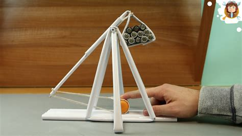 How To Make A Paper Catapult - how to make a paper trebuchet paper gun