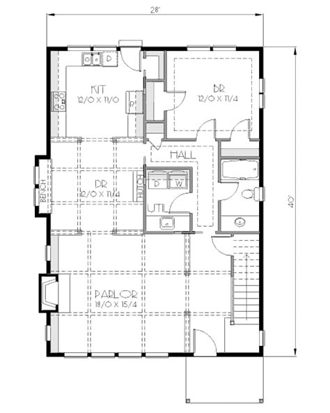 Traditional Style House Plan 4 Beds 2 00 Baths 1900 Sq Ft Plan 423 10