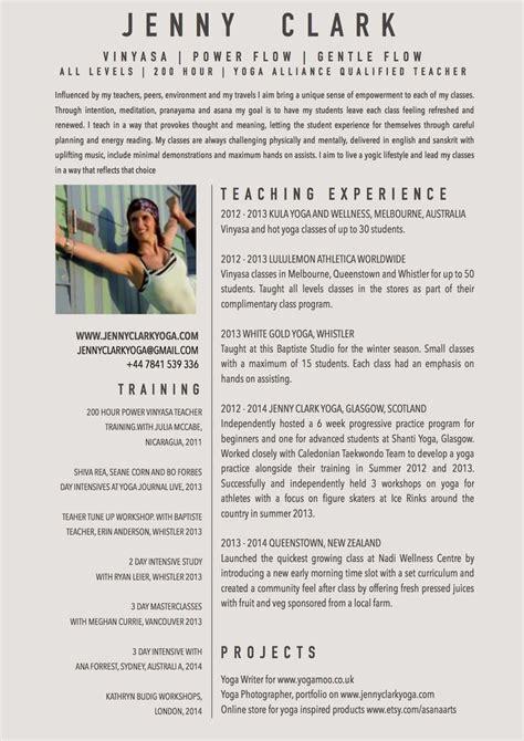 yoga instructor resume sample letter of recommendation for yoga