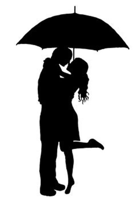 swing kleider große größen figuren k 252 ssendes paar unter regenschrim silhouette