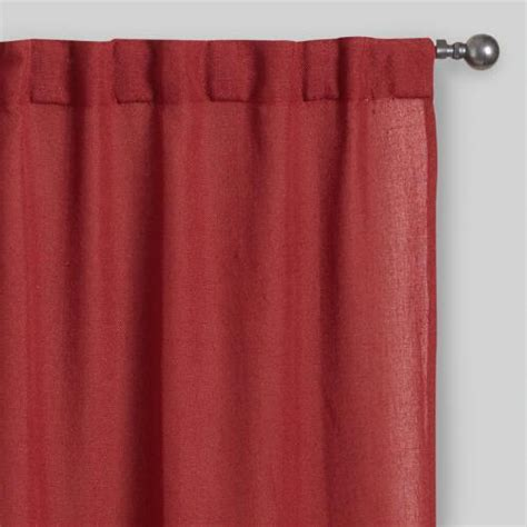 Concealed Tab Curtains Rust Concealed Tab Top Curtains Set Of 2 World Market