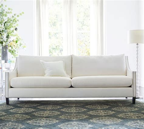 pottery barn settee pasadena upholstered sofa pottery barn