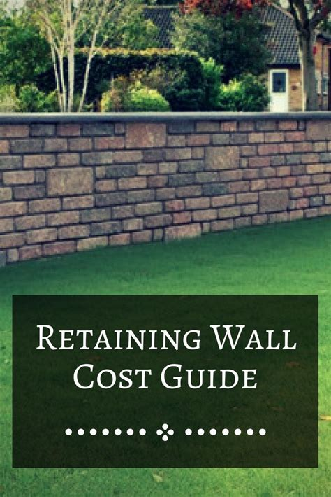 best 25 retaining wall cost ideas on pinterest