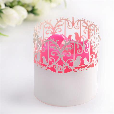 kerzenhalter papier 25x hochzeit deko papier wrapper teelichthalter