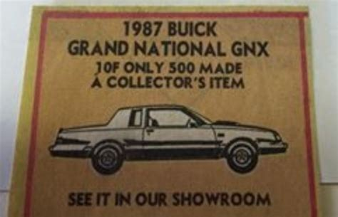 buick grand national poster buick regal gnx posters