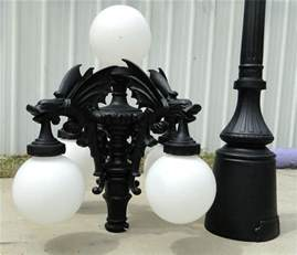 gargoyle light fixture gargoyle pole light with five shades commercial or