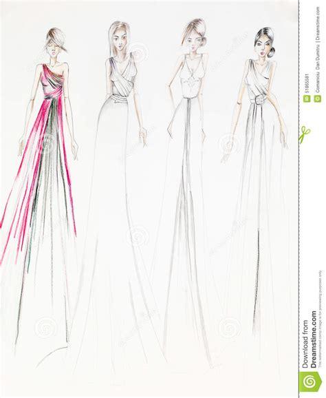 stylish design stylish ballroom dresses stock illustration image of