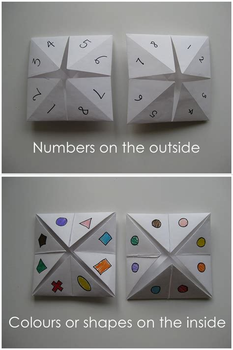 How To Make One Of Those Paper Fortune Tellers - my handmade home tutorial origami fortune teller
