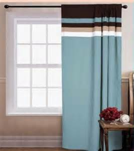 White And Brown Curtains Palermo Blue Tans White And Chocolate Brown Window Curtain Panel Ebay