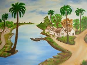 Native American Indian Home Decor view from indian village painting by riya rathore
