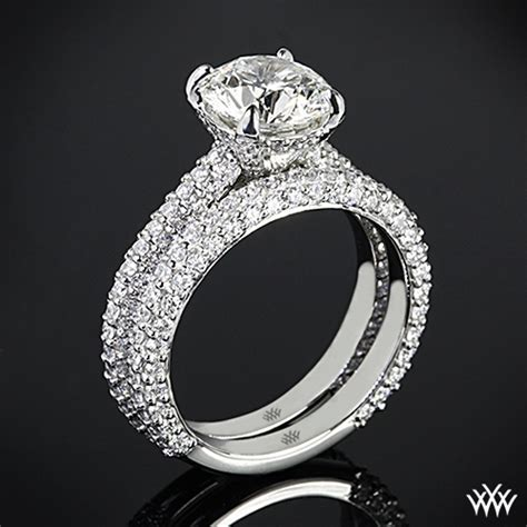 Elena Rounded Pave Diamond Wedding Set   2393