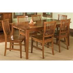 Arts amp crafts 7 piece dining set cottage oak dining table sets