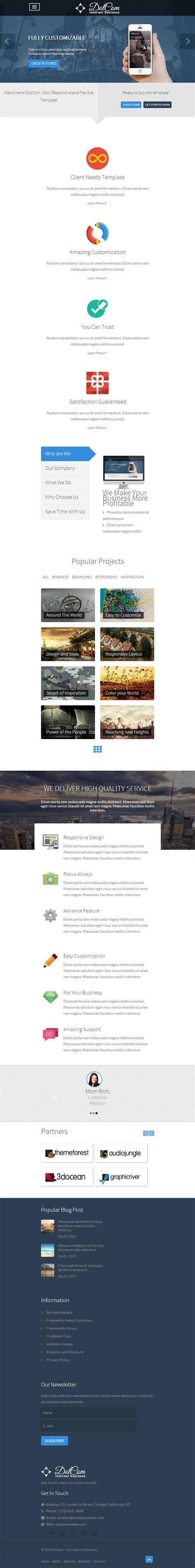 themeforest joomla dotcom responsive corporate joomla template
