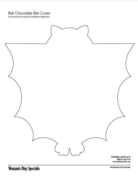 Bat Bar Wrapper Template bat chocolate bar cover ideas