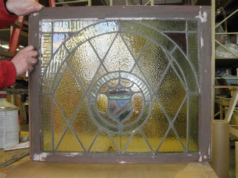 leaded glass restoration  repair clear colored