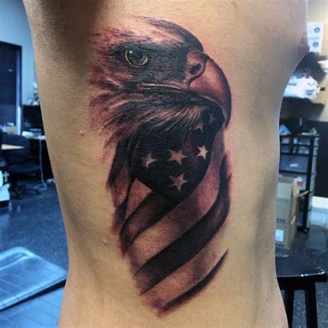eagle rib cage tattoo 90 patriotic tattoos for men nationalistic pride design