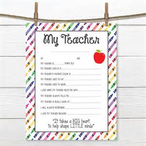 Appreciation Letter Preschool Teacher preschool teacher etsy