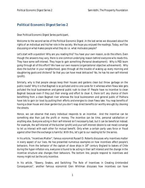 Economic Series1 political economic digest series 2