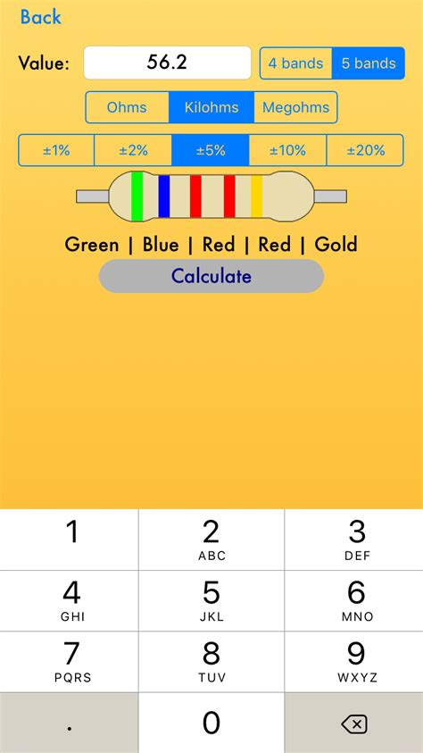 resistor calculate tolerance resistor color code calculator voutsasapps