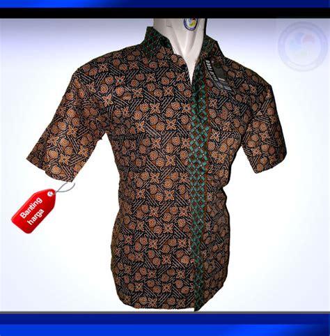 C8s Kemeja Batik Pria Hem Batik Batik Seragam Kantor jual coklat sjhm13 1108 baju batik hem kemeja batik