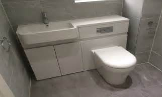 Gloss Vanity Unit Toilet Basin Combined Toilet Tank Sink Combo Toilet And