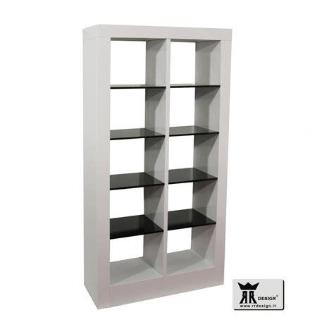 mensole bianco lucido libreria moderna laccato bianco lucido e nero lucido primo