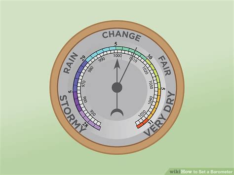 set  barometer  steps  pictures wikihow