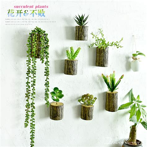 artificial plant decoration home new arrival 3d wall tree stump plants imitation flower