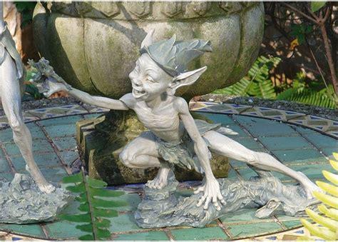 outdoor pixie elves mischievous size pixie with frog garden sculpture pond imp statue ebay