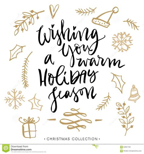wishing   warm holiday season christmas greeting card stock vector image