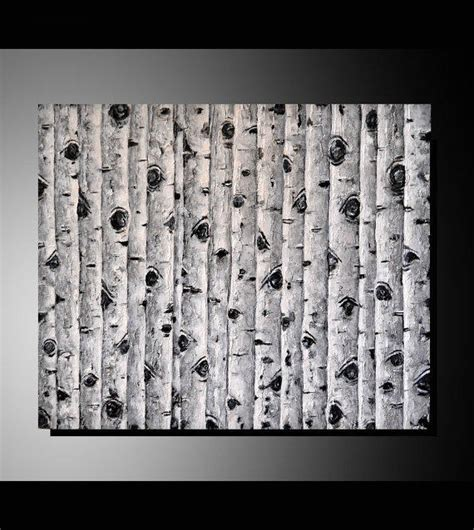 modern home decor abstract tree painting birch trees original black and white birch trees from zarasshop on etsy