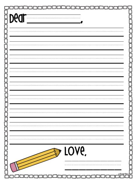 letter writing template for grade for grade step up day end of the year