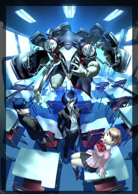 persona 3 4 wallpaper pack for psp 50 jpg 480x272 persona thanatos junpei minato and yukari anime