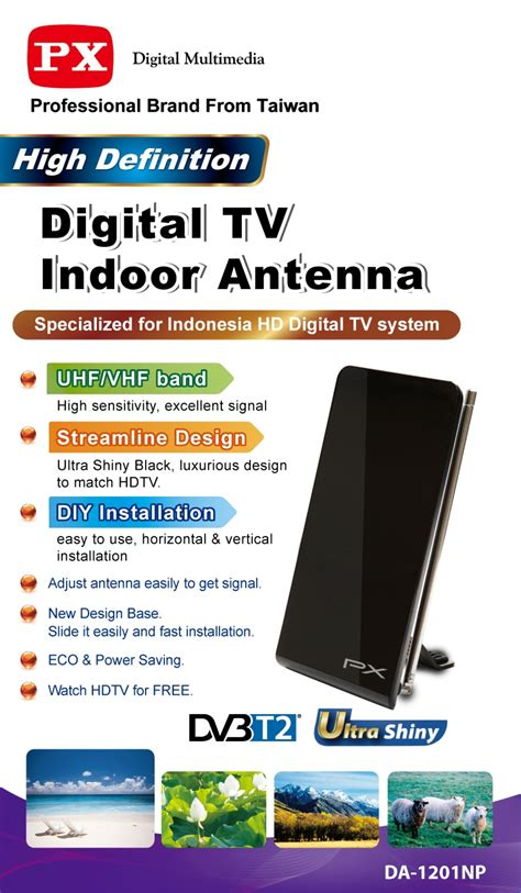 Antena Antenna Px Digital Tv Indoor Da1201np Da 120np Tipis Px Digital Tv Indoor Antenna Da 1201np Lazada Indonesia