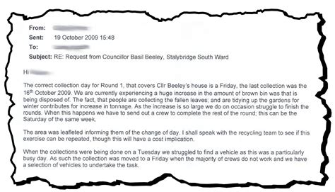 Sle Complaint Letter To Council About Rubbish basil beeley tameside conservatives