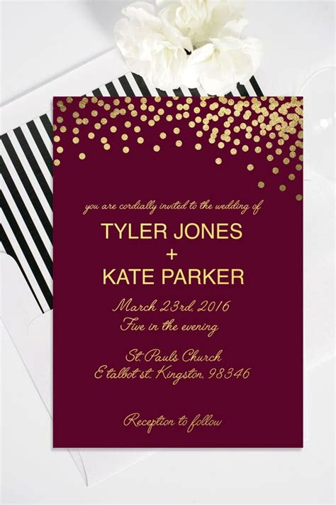 wedding invitations burgundy and gold 27 timeless burgundy and gold fall wedding ideas weddingomania