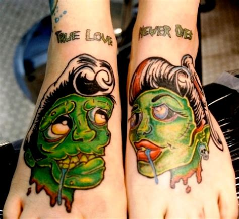 couple foot tattoos 12 best images and designs