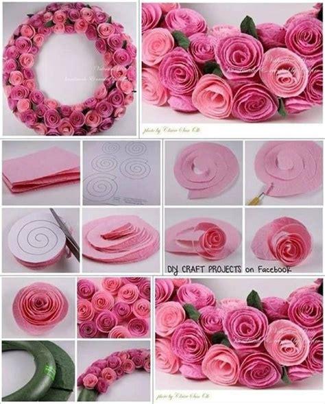 Roses Paper Craft - diy decor ideas 2014
