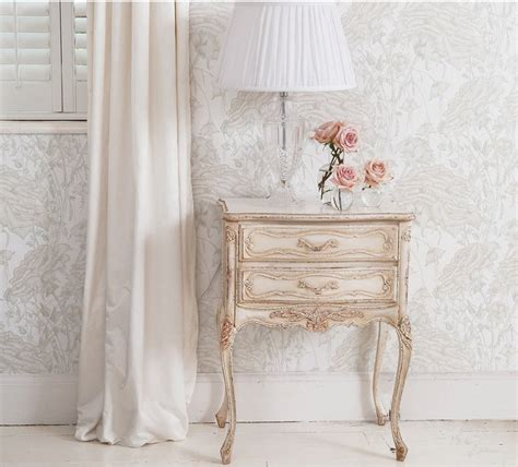 delphine french bedside table white shabby chic bedside