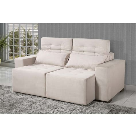 sofa  lugares american comfort cine retratil em suede bege sofas  casasbahiacombr