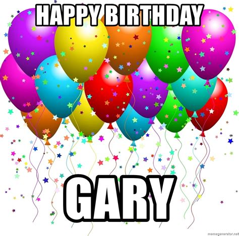 happy birthday design generator happy birthday gary balloons meme generator