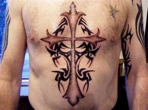cross tattoos for men on chest chest cross ideas for inofashionstyle
