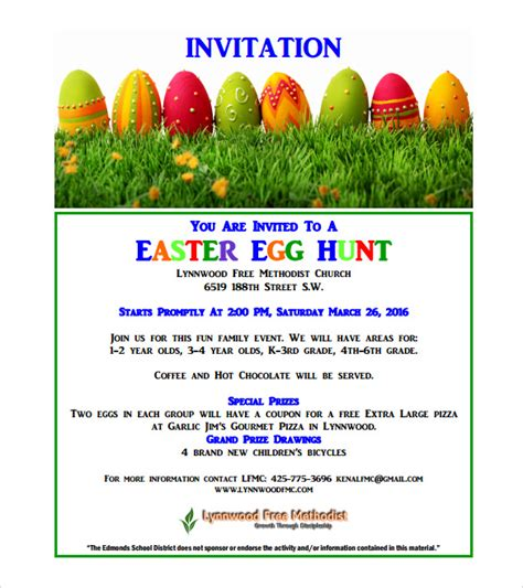 easter invitation template sle easter invitation templates 12 sle exles