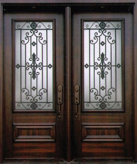 iron doors wrought iron door with swirl centres