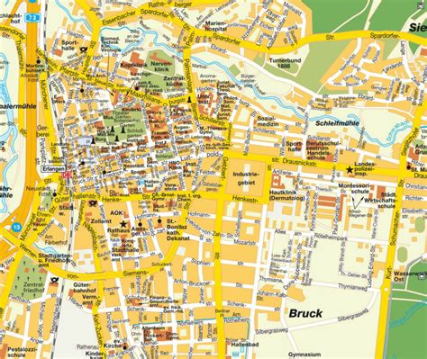 map of erlangen germany erlangen map and erlangen satellite image