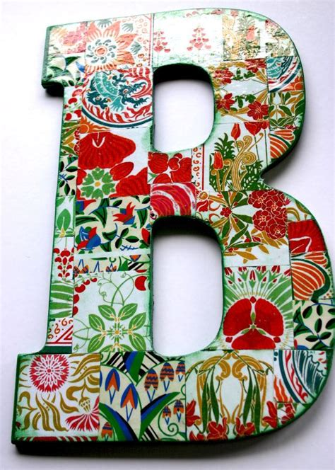 Decoupage Letter Ideas - 17 best ideas about decoupage letters on