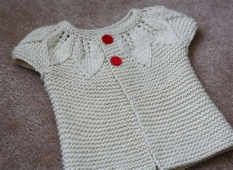 leaf pattern baby sweater top down baby cardigan with leaf detail and vintage