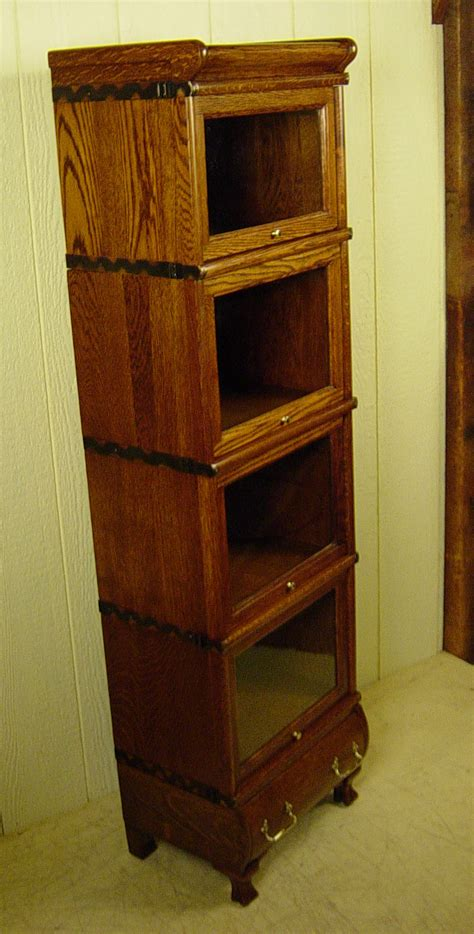 Macey Bookcase Rare 4 Section Miniature Macey Co Stacking Oak Bookcase