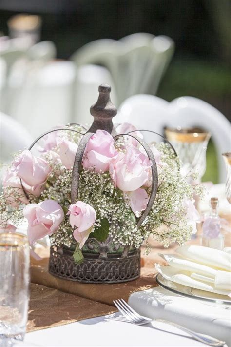 crown centerpiece for a themed baby shower photo by